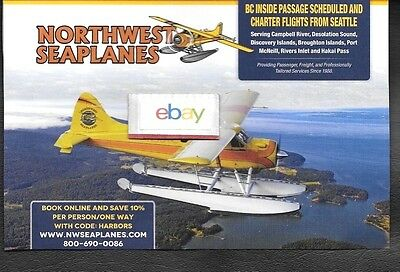 Northwest Seaplanes De Havilland Beaver To Campbell River From Seattle Ad
