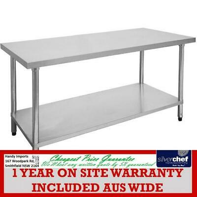 Fed Commercial 700X2400 Stainless Steel 304 Grade Food Prep Long Bench 2400-7-Wb