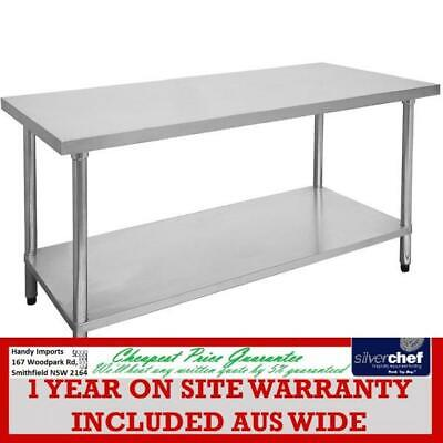 Fed Commercial 600X1800Mm Stainless Steel Table Food Grade Work Bench 1800-6-Wb