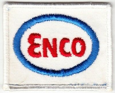 Obsolete ENCO Oil Company on White Twill Patch