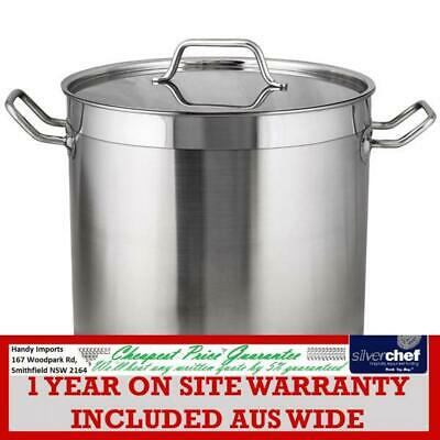 Fed Commercial Stockpots Quality 5 Stainless Steel Deep Reinforced 23L