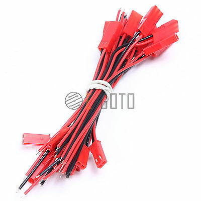 10pcs 20cm Mini Micro JST 2Pin Male&Female Connector Plug With Wires Cables