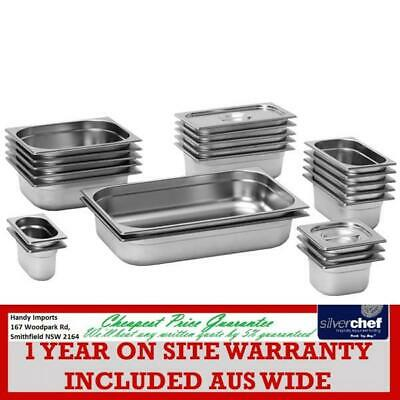 Fed Commercial 2/3 X 65 Mm Gastronorm Gn Gn2/3 Pan Bain Marie Tray 23065