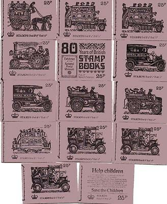 ALL 14 x 25p VINTAGE TRANSPORT SERIES BOOKLETS DH39-DH52 1971-1973 F16