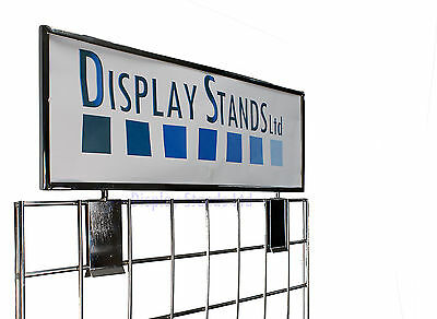 Clip On Card Header for Grid Mesh Panels Shop or Exhibition Display (E3H)