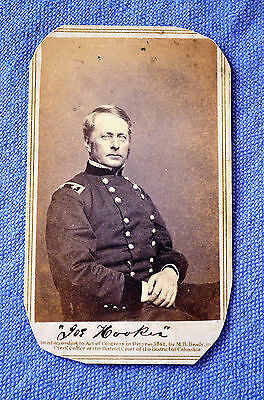 CDV Of Union Major General Joseph Hooker