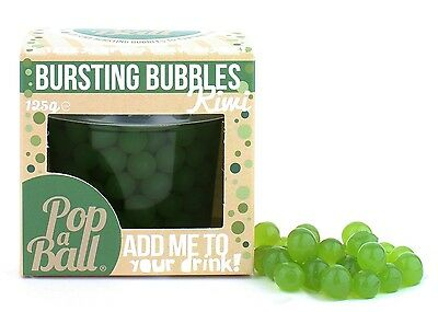 Popaball Bursting Bubbles Kiwi Flavour Cocktail Bubble Tea Prosecco Drink Extra