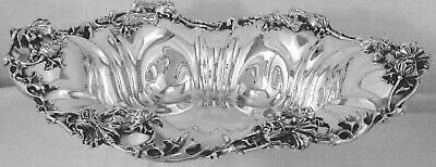 Fabulous Art Nouveau Sterling Silver Oval Bowl by Kerr & Co., No Mono