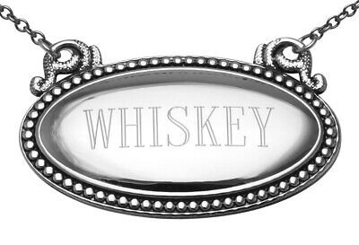Whiskey Liquor Decanter Label / Tag - Oval beaded Border - Made in USA