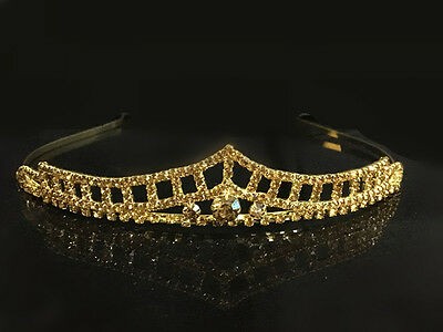 Beautiful Gold Plated Women Bridal Crystal Wedding Tiaras and Crown Headband