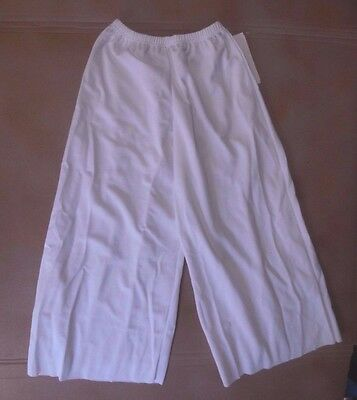NWT PRAISE LITURGICAL DANCE Palazzo Pants White Knit Ladies Praisewear 85807