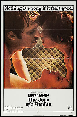EMMANUELLE THE JOYS OF A WOMAN orig 1976 one sheet movie poster SYLVIA KRISTEL