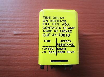 Potter & Brumfield CUF-41-70010 Relay Time Delay On Operate Adj 1.0 - 10 Seconds