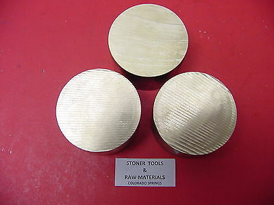 "3 Pieces 3"" C360 BRASS ROUND ROD .50"" long Solid 3.00"" OD H02 Lathe Bar Stock"