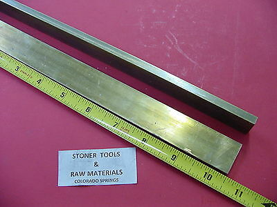 "2 Pieces 1/4"" x 1"" C360 BRASS FLAT BAR 10.5"" long Solid .250"" Mill Stock H02"