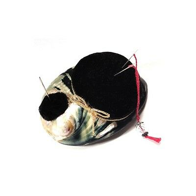 Abalone Shell Pin Cushion with Emery