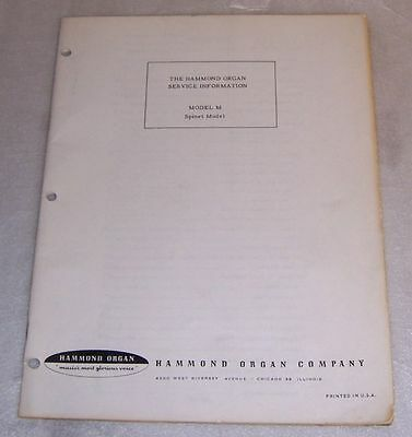 Hammond organ service manual abcdegrt models 599 picclick original hammond m spinet organ service manual fandeluxe Images