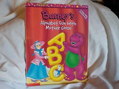 """Scholastic """"Barney's Alphabet Fun with Mother Goose"""" Activity Pad"""