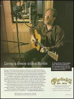 The Martin D-41 acoustic guitar ad 8 X 11 framable advertisement print