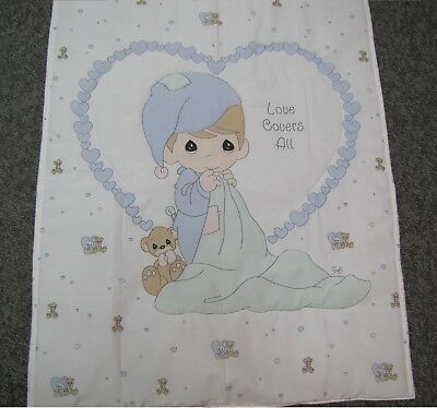 New baby toddler blanket quilt throw crib Precious Moments Love Covers All Heart