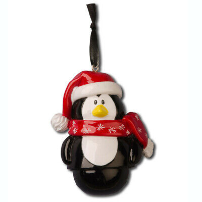 Character Bells Penguin Personalized Christmas Tree Ornament