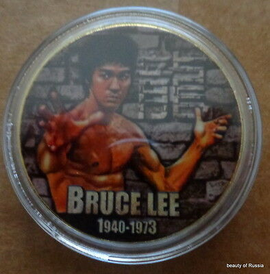 Bruce Lee      24K GOLD  PLATED 40 mm    COIN
