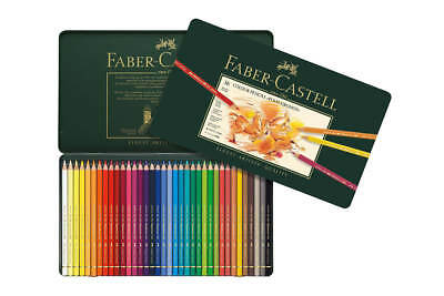 Faber-Castell Polychromos Pencils - 36 Assorted Colours (Tin Case)