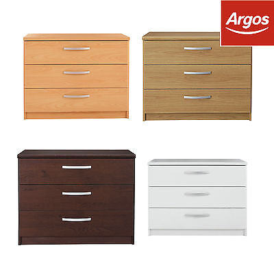 The Collection at Argos Hallingford 3Drawer Wide Bedside Chest-Choice of Colour.