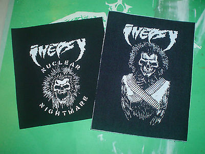Lot Of 2 Inepsy Patches War Ripper Bastardator Reaper Gbh Thrash Metal Punk Diy