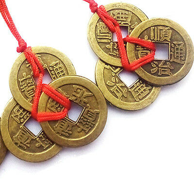 6PC/Set Feng Shui Chinese Bless Fortune Coins Oriental Emperor Qing Money Lucky