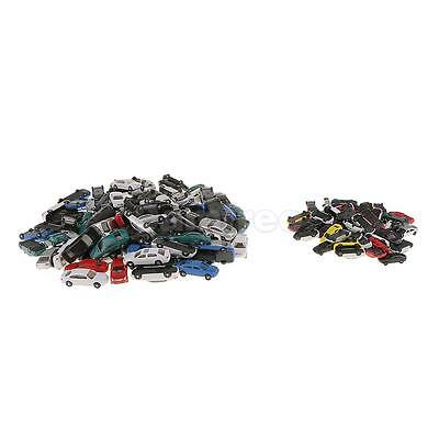 150pcs Mixed Size Model Cars Diecast for Building Railway Train Scenery HO N