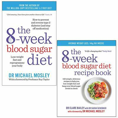 The 8-Week Blood Sugar Diet Recipe Collection Healthy Eating 2 Books Set NEW PB