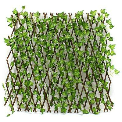 Expandable Artificial Ivy Leaf Privacy Fence Screen Windscreen Single Side