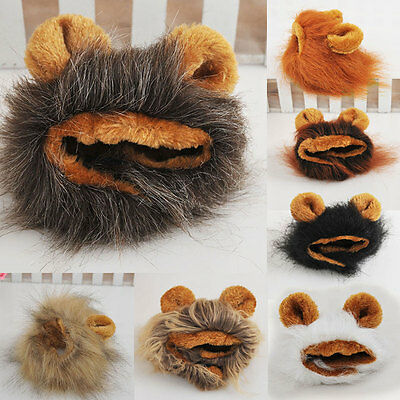 Furry Pet Hat Lion Mane Wig For Cat Halloween Dress Up With Ears Festival