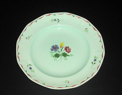 Adams Member of Wedgwood Group Caylx Ware Dinner Plate Floral on Robins Egg Blue