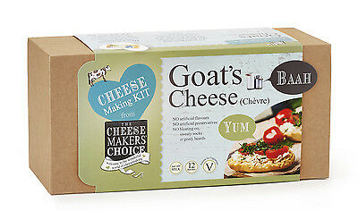 Cheese Maker's Choice Goat's Cheese Making Kit 12 x 500g with equipment for more
