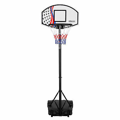 eSecure Free Standing Basketball Net Hoop Backboard Set with Adjustable Stand