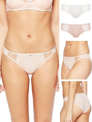 XL (18) Ultimo Arabella Sexy Sheer Mid Rise Mini Brief 3525 Knickers Lingerie