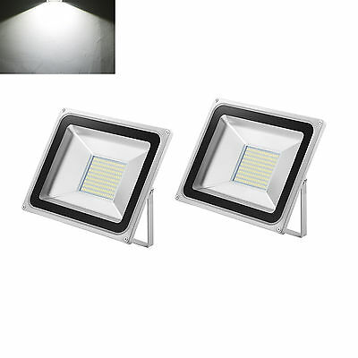 Outdoor High Power LED Flood Light 2×100W Day White Security Floodlights Lamp