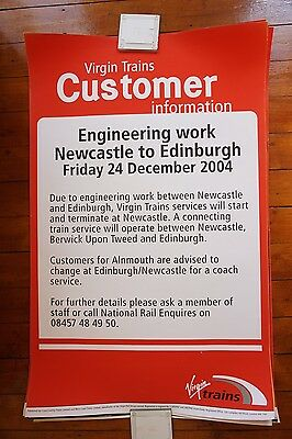 Virgin Trains Original Railway Travel Platform Station Poster x5 All are Shown