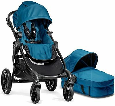 Baby Jogger City Select Stroller Teal with Bassinet Pram System Travel NEW 2016