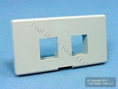 Leviton Gray Quickport 2-Port Cubicle Wallplate Data Faceplate 49900-SG2