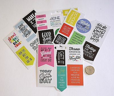 Scrapbooking No 494 - 25 + Medium Size Saying Stickers Mixed - Sale To Clear