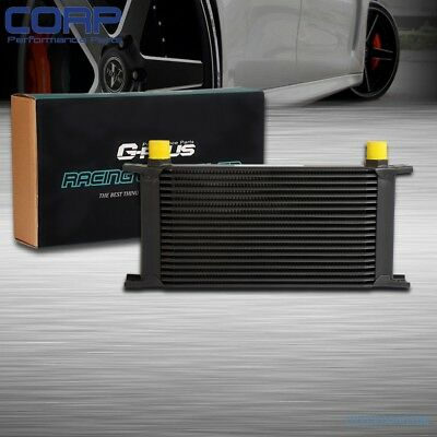 19 ROW 10AN Universal  Auminum Racing Engine Transmission Oil Cooler Black