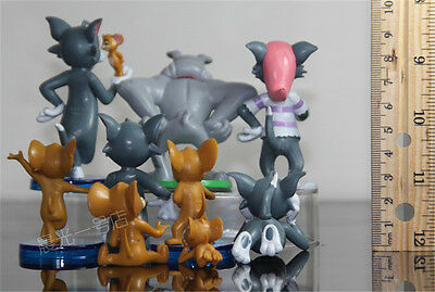 Tom And Jerry Figure Cartoon Cat & Mouse Toys Set of 9pcs Cute Anime Kids Gift