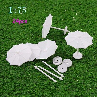 TYS02075 24pcs DIY Model Train parasol Vertical Simple Gifts 1:75 OO Scale New