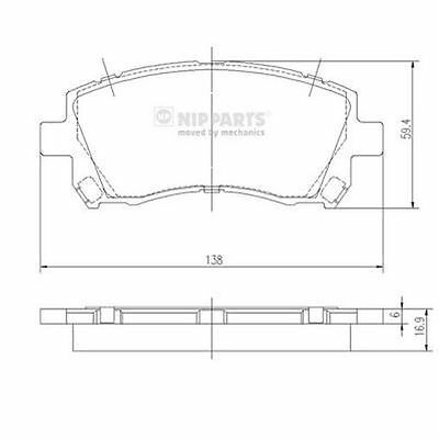 To Clear - New Oe Quality Nipparts - Front - Brake Pads Set - J3607013