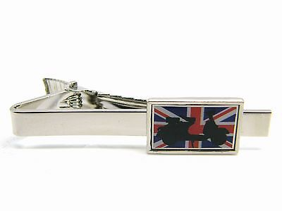 0c4b70e01313 Mod Union Jack Scooter Flag Tie Clip Pin Badge Mens Gents Novelty In Gift  Pouch