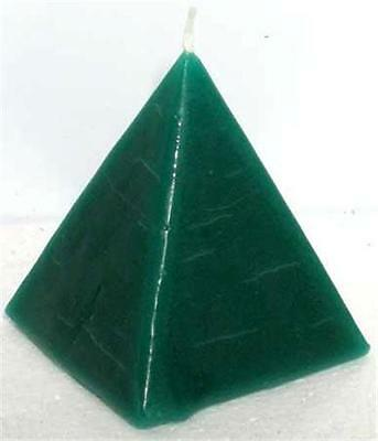 "Green ""DRAW MONEY"" Pyramid Ritual Candle!"