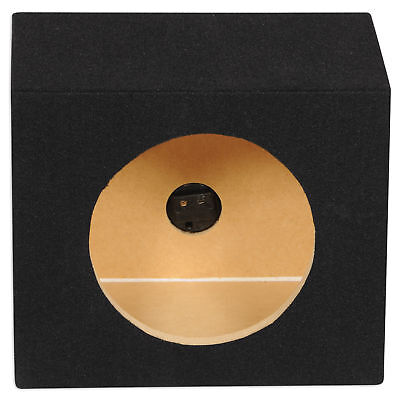 "Rockville RSE8 Single 8"" 0.55 cu. ft. MDF Sealed Car Sub Box Subwoofer Enclosure"
